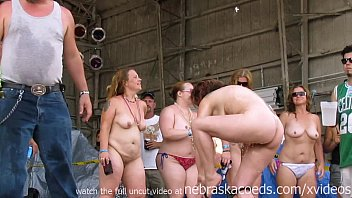 Naked chubby public Real women going wild at midwest biker rally