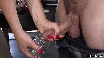 Big tits brunette parole officer Krissy Lynn releases dude from handcuffs and then he ties up her and fucks her