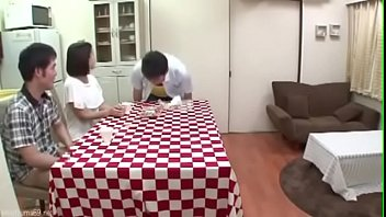 Japanese having sex in the kitchen