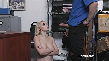 Huge tits bouncing happily on guards cock