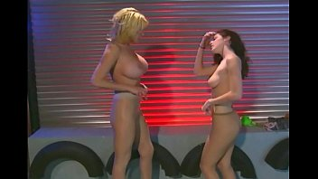 Lesbian milfs tease in nude pantyhose | Video Make Love