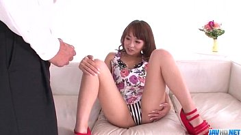 Hazuki Okita Gets Cock In Each Of Her Creamy Holes