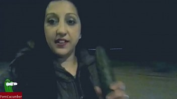 gypsy gets a cucumber for her pussy ADR00245