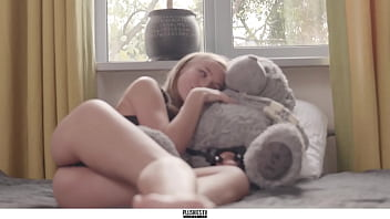 Aislin girl first teddy bear sex with strapon dildo