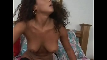 Puerto Rican chick Dee gets facial cumshot wearing only fishnet stockings