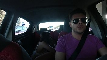Having sex with pretty latina on the Uber