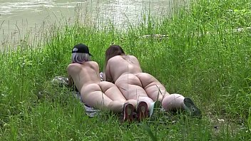 Pictures voyeur pussy Voyeur outdoors peeps at two naked lesbians. nudists with big asses sunbathe and enjoy nature and masturbation.