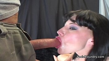 Watering eyes after gagging on big cock