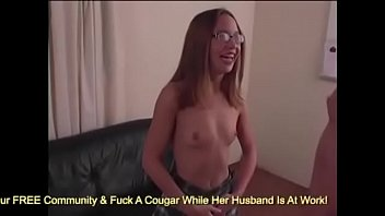 Young Teen In Glasses and Skirt Jacks Off A Dud... | Video Make Love