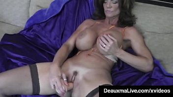 Hot Blooded Cougar Deauxma Dildo Fucks Her Pussy & Squirts! porn image