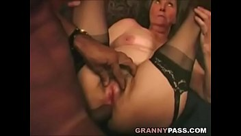 Granny anal interracial