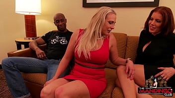 Latina MILF And Blonde Take Turns With Two BBC After A Training Session
