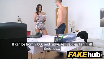 Female Agent Slim agent loves being covered in fresh warm cum