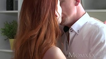 MOM Stunning Milf Redhead has her tight shaved pussy filled up thumbnail