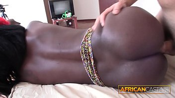 Masturbating African Amateur Gets Surprised with REAL DICK