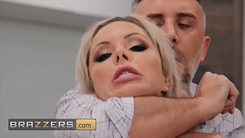 Stunning blonde (Nina Elle) gets a mouthful of cock - Brazzers
