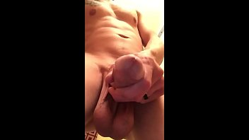 Heavy Balls contracting and Cock dripping pre cum