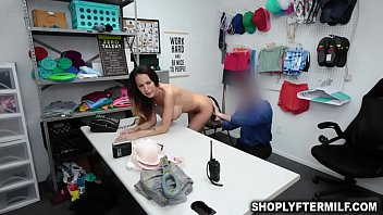 Young thief McKenzie Lee strips and suck officers dick