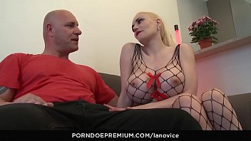 LA NOVICE - Sexy French blonde Eeciahaa with big tits gets banged in her first porn
