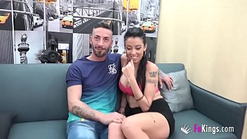 My new girlfriend filmed porn and now she wants to do it again Jesus' BIG BLACK COCK!! thumbnail