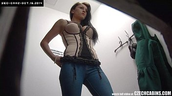 Cute teen room ideas - Czech brunette teen spied with security cam