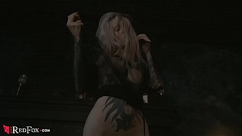 Tattooed Blonde Sensual Dance and Teases  - Amateur Solo