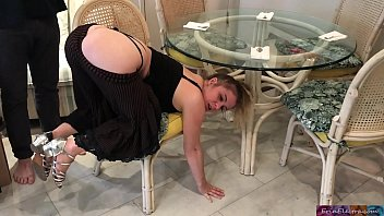 Stepmom stuck under the table - Erin Electra