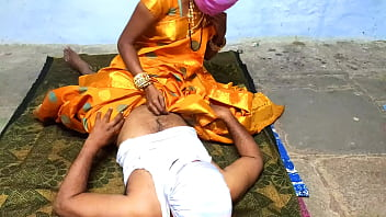 CoverSex with a Telugu wife in the middle of the night in a dark yellow sari