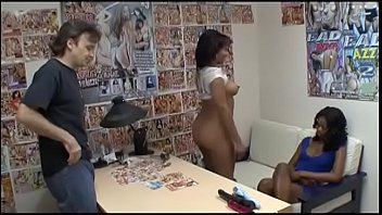 Two Thick Ebony Bitches Have Threesome With A White Stud In Bed