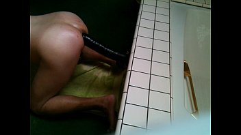 """Nasty guy's ass swallowing 9"""" black 17x 8"""" dildo AWESOME !!"""