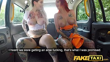 Fake Taxi Alexxa Vice and Pixi Peach in filthy anal fucking taxi foursome