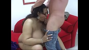Thick black BBW has interracial oral sex with white stud then gets creamed