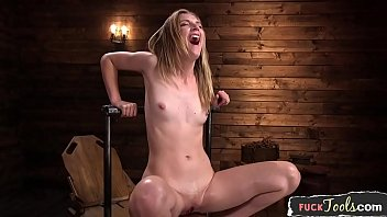 smalltits beauty squirts while dildo fucked min