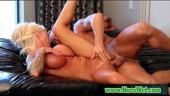 Nuru Massage Cock Rubbing Pussy and Fuck 28