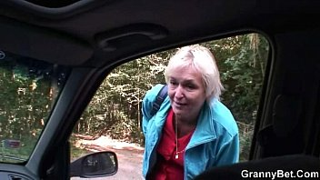 Old granny is picked up from road and fucked