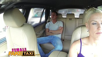 Female Fake Taxi Big tits blonde cabbie milf fucks young stud on backseat