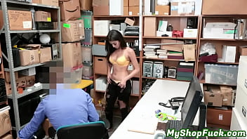 Sophia Leone Blackmailed and Fucked By Mall Officer