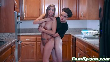 Hot Mom Helps Her Petite Son to Relieve Blueballs - Britney Amber