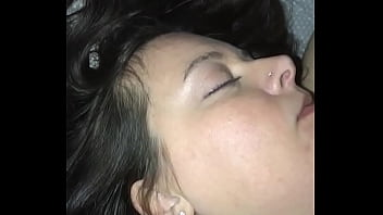 p. wife. Sucking on her tit and playing with her pussy