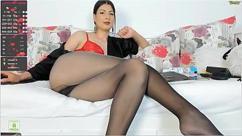gorgeous ass Mature brunette in pantyhose