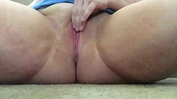 Spreading my pussy and playing with my favorite toy