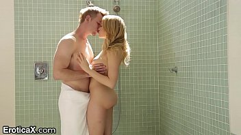 Sensual shower sex Big dick shower surprise for blonde mia malkova