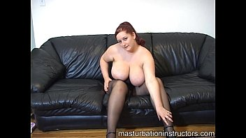 Chubby jerk off teacher got her big bouncy tits exposed for teasing