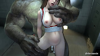 Mai Shiranui Gets Her Pussy Ravaged By An Orc
