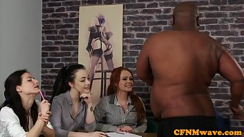 British CFNM beauties wank dick at casting