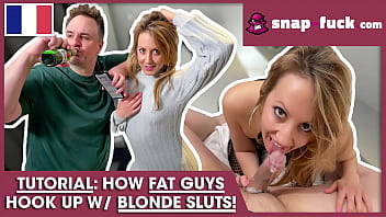 ALARM! A fat sweaty man rails YOUNG CHICK! (from France)! SNAP-FUCK.com