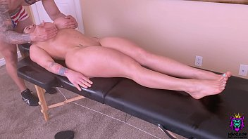 Son takes advantage of his Busty young stepmom while giving her a massage and fuck her Big Ass