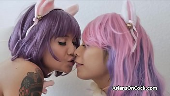 Asian cultural issue - Threesome with busty asian kawaii kittens