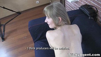 Tricky Agent - A blond student Sonja teen-porn is looking for some cash!