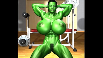 Adult she hulk Waves of green